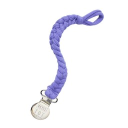 Petit Tot Petit Tot - Jersey Braided Pacifier Clip, Lavender