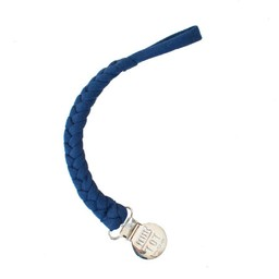 Petit Tot Petit Tot - Jersey Braided Pacifier Clip, Marine