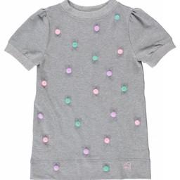 Birdz Children & Co Birdz - Pompom Dress, Soft Grey