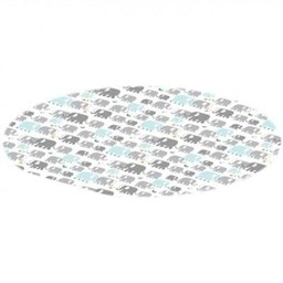 Kushies Kushies - Cleanmat Protective Floor Mat, Elephants