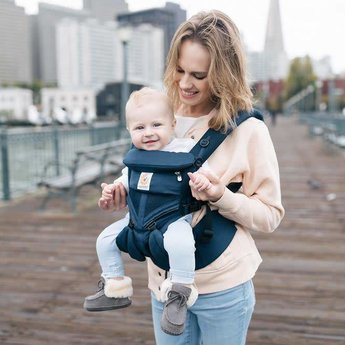 Ergobaby Omni 360 Cool Air Baby Carrier Oxford Blue Mesh