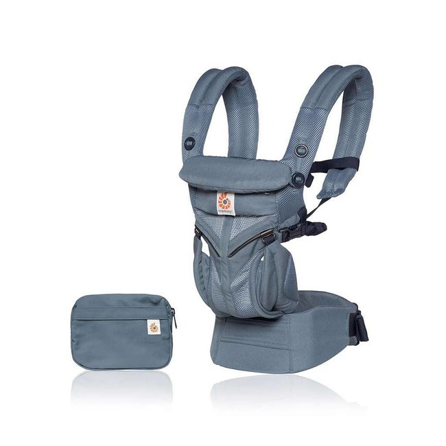 Ergobaby Ergobaby - Omni 360 Cool Air Baby Carrier, Oxford Blue Mesh