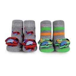 Waddle Waddle - Pack of 2 Pairs of Rattle Socks, Planes