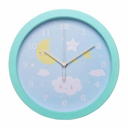 A Little Lovely Company Little Lovely Company - Clock with Hands, Blue Cloud
