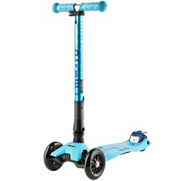 Kickboard Canada Kickboard - Deluxe Maxi Micro Scooter with Folding T-Bar, Bright Blue