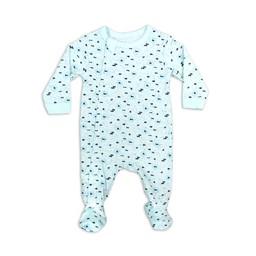 Coccoli Coccoli - Footie Pyjama, Blue Neppy Print