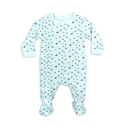 Coccoli - Footie Pyjama, Blue Neppy Print