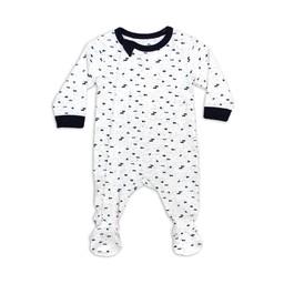 Coccoli - Pyjama à Pattes, Marine Crème Imprimé Neppy
