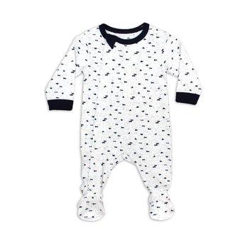 Coccoli Coccoli - Footie Pyjama, Cream Navy Neppy Print
