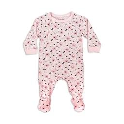 Coccoli Coccoli - Footie Pyjama, Pink Neppy Print
