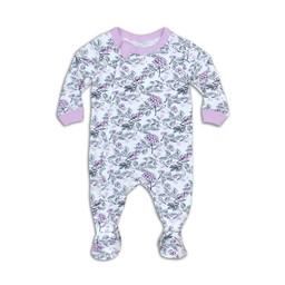 Coccoli - Footie Pyjama, Lilac Snow Floral Print