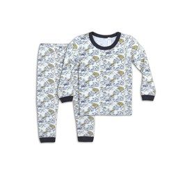 Coccoli - Pyjama 2 Pièces, Or Imprimé Floral