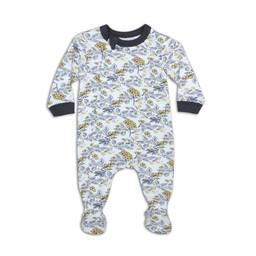 Coccoli Coccoli - Pyjama à Pattes, Or Imprimé Floral