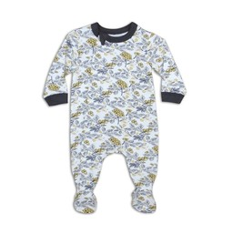 Coccoli - Footie Pyjama, Gold Floral Print