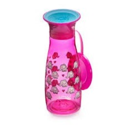 Wow Cup Wow Cup - Gobelet Wow Cup Mini Tritan 12oz, Éléphants Rose