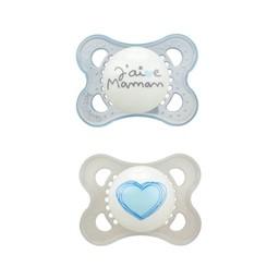 MAM MAM - Love and Affection Pacifier, J'aime Maman, Blue, 0-6 months