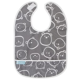 Kushies Kushies - Bavette Imperméable 12 Mois+, Ours Charcoal