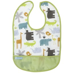 Kushies Kushies - Bavette Imperméable 12 Mois+, Blanc Jungle Animaux