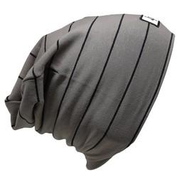 L&P L&P, Boston V4 - Tuque de Coton Rayée, Gris Terre Noir
