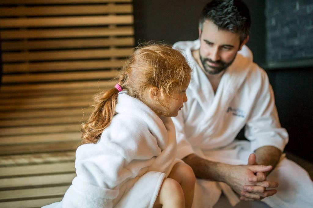 Au spa avec les enfants!