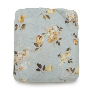 Loulou Lollipop Loulou Lollipop - Bamboo Fitted Crib Sheet, Wild Rose