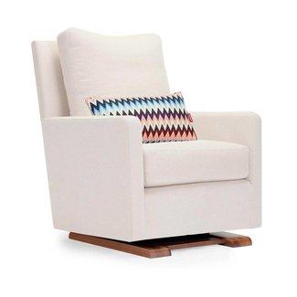 Monte Design DEMO SALE - Monte - Como Glider Chair, Walnut Wood Base, Beach Fabric, Missoni Cushion