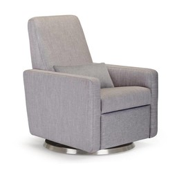 Monte Design Monte - Fauteuil Berçant Inclinable Grano, Base Pivotante, Tissu Pebble Grey - Programme Quick Ship