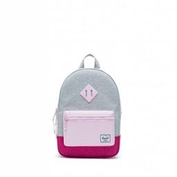 Herschel Herschel - Heritage Kids Backpack, Light Grey, Very Berry and Pink Lady