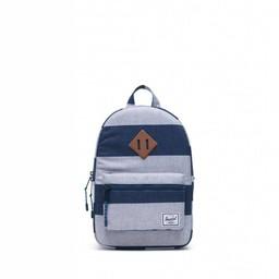 Herschel Herschel - Heritage Kids Backpack, Border Stripe and Saddle Brown