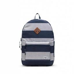 Herschel Herschel - Heritage Youth Backpack XL, Border Stripe and Saddle Brown