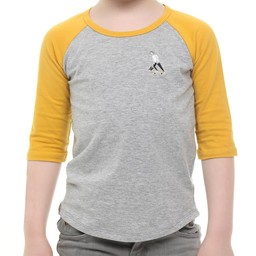 L&P L&P - 3/4 Sleeve Baseball T-Shirt, SK8 Yellow