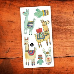 Pico Tatouages Temporaires Pico Tatoo - Temporary Tattoos, Noah the Alpaca