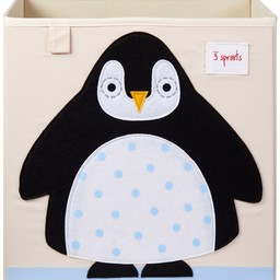 3 sprouts 3 Sprouts - Storage Box, Black Penguin