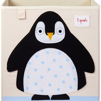 3 sprouts 3 Sprouts - Storage Box, Black Penguin