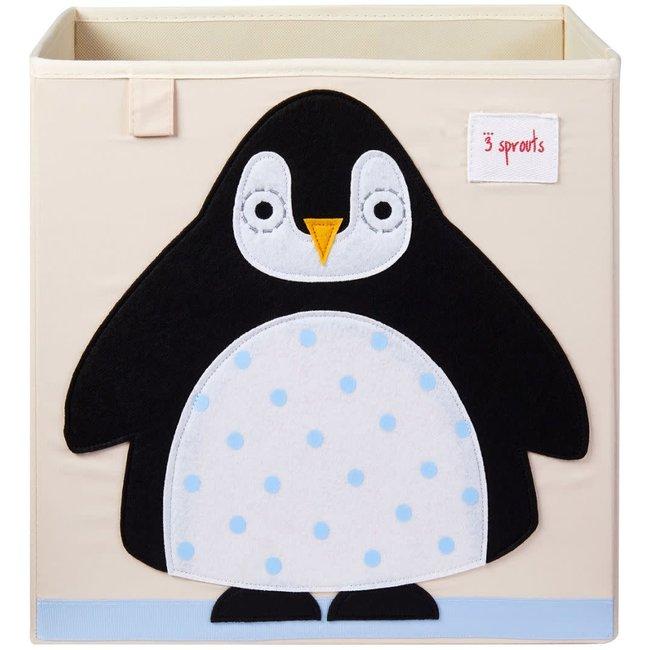 3 sprouts 3 Sprouts - Boîte de Rangement, Pingouin Noir