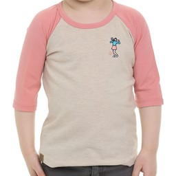L&P L&P - 3/4 Sleeve Baseball T-Shirt, Pink Mix Beige