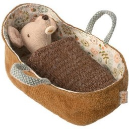 Maileg Maileg - Baby Mouse in a Carrycot