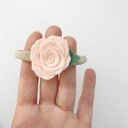 Mlle Léonie Mlle Léonie - Flower Headband, Pale Pink