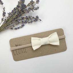 Mlle Léonie Mlle Léonie - Fabric Bow Headband, Cream