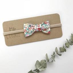 Mlle Léonie Mlle Léonie - Fabric Bow Headband, Little Red Flowers