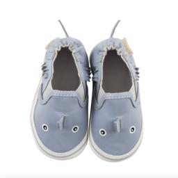 Robeez Robeez - Soft Soles Shoes, Sebastien the Shark, Blue Leather