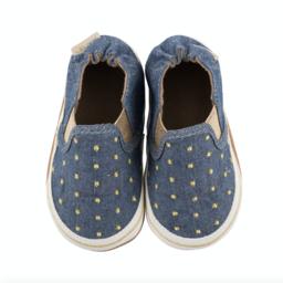 Robeez Robeez - Soft Soles Shoes, Isabella, Denim and Gold
