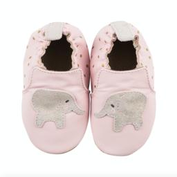 Robeez Robeez - Soft Soles Shoes, Ella the Elephant, Pink Leather