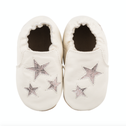 Robeez Robeez - Soft Soles Shoes, Aria, Ivory Leather