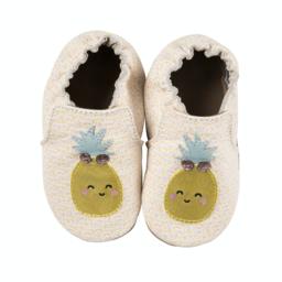 Robeez Robeez - Soft Soles Shoes, Happy Fruit, Ecru Leather