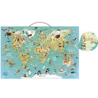 Vilac Vilac - Magnetic World Map