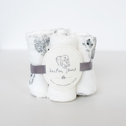 Bouton Jaune Bouton Jaune - Set of 7 Velvet Ratine Washclothes, Hedgehog