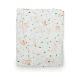 Loulou Lollipop Loulou Lollipop - Bamboo Fitted Crib Sheet, Bunny Meadow