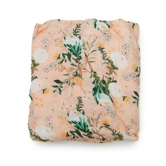 Loulou Lollipop Loulou Lollipop - Bamboo Fitted Crib Sheet, Blushing Protea