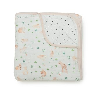 Loulou Lollipop Loulou Lollipop - Bamboo Muslin Quilt, Bunny Meadow
